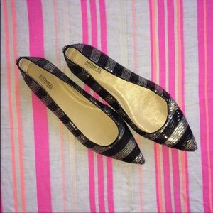 Fun Pointy Toe Sequin Flats